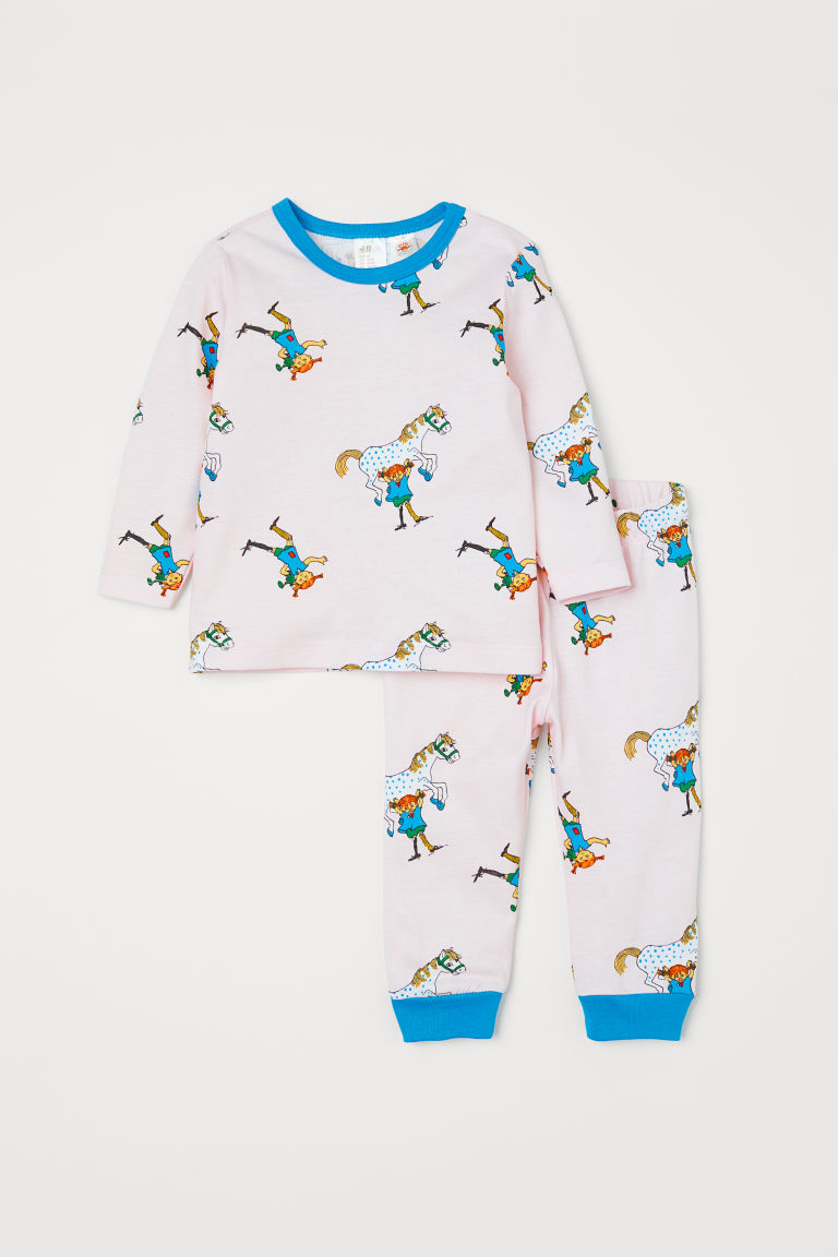 Printed pyjamas - Light pink/Pippi Longstocking - Kids | H&M IE
