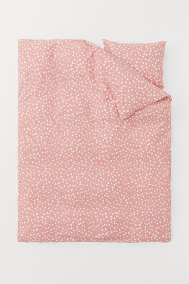 Set copripiumino fantasia - Rosa/pois - HOME | H&M IT
