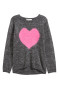 Dark grey marl/Heart