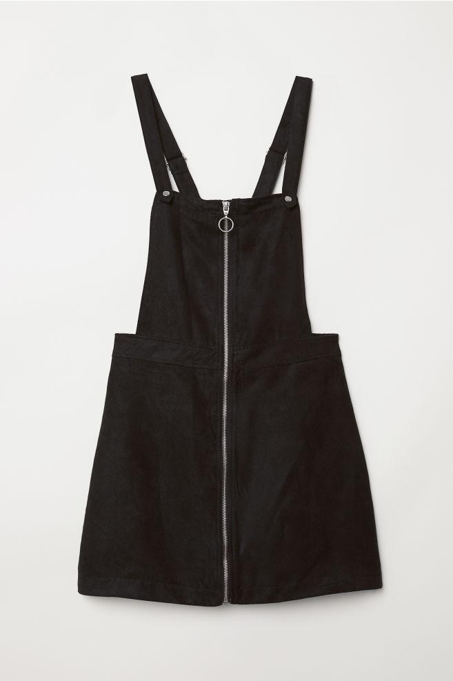 f002dff088 Bib Overall Dress - Black -