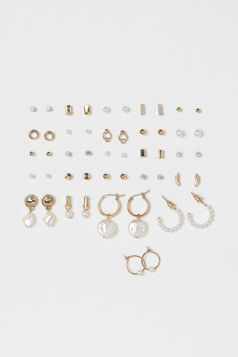 25 Pairs Earrings - Gold-colored - Ladies | H&M US