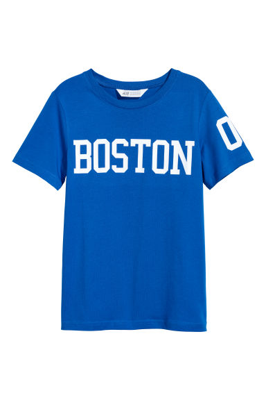 Printed T-shirt - Bright blue/Boston - Kids | H&M