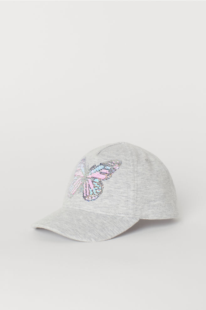 f97f16c3332 Cap with an appliqué - Grey marl Reversible sequins - Kids