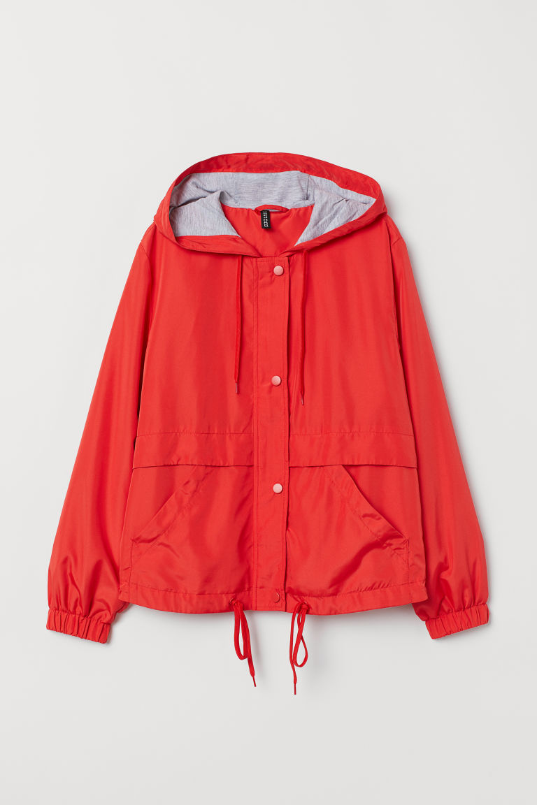 Hooded jacket - Red -  | H&M