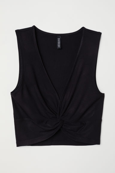 Cropped top - Black -  | H&M