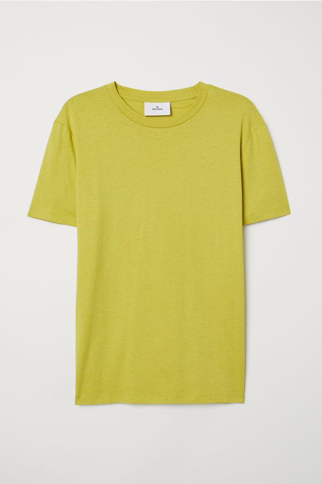 5f7831a927559f Cotton and Silk T-shirt - Light green - Men