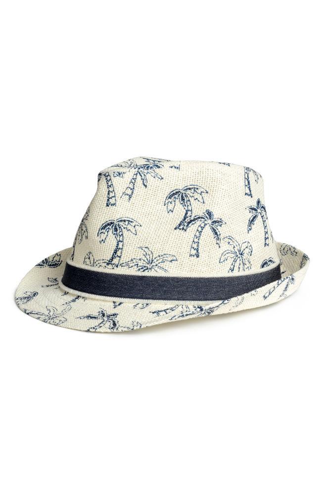 Chapéu de palha estampada - Branco cru Palmeiras - CRIANÇA  f49263c8439
