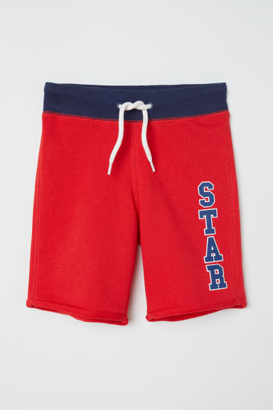 Sweatshirt shorts - Red/Star - Kids | H&M
