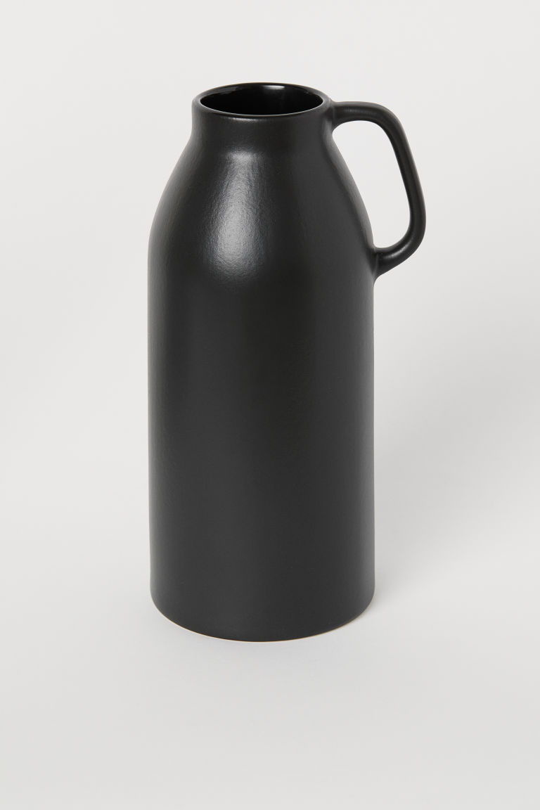 Tall stoneware vase - Black - Home All | H&M GB