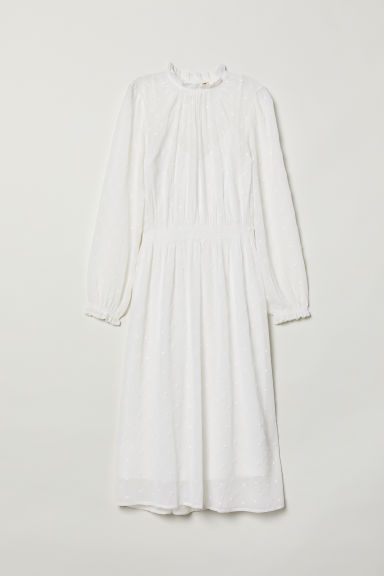 Chiffon dress - White - Ladies | H&M CN