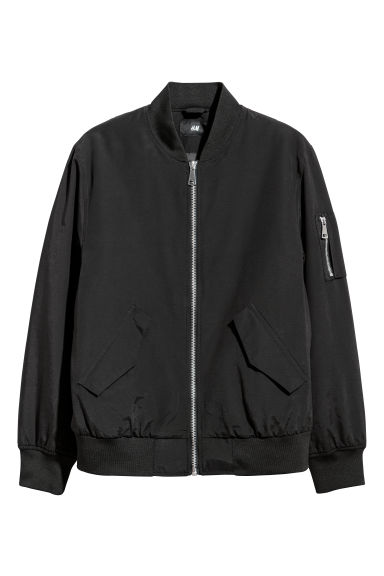 Padded bomber jacket - Black -  | H&M IE
