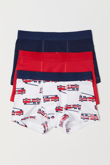 3-pack boxer shorts - White/Fire engines - Kids | H&M CN