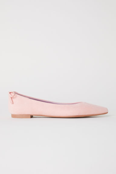 Pointed ballet pumps - Apricot - Ladies | H&M CN