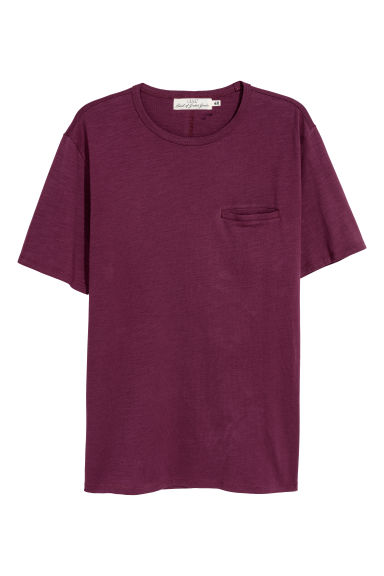 T-shirt - Burgundy - Men | H&M CN