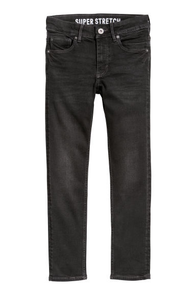 Superstretch Skinny Fit Jeans - 黑色牛仔布 - Kids | H&M CN