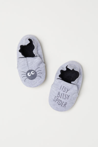 Soft bootees - Light grey/Spider - Kids | H&M