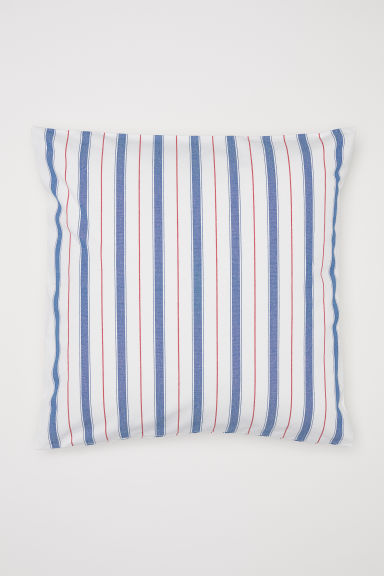 Striped cushion cover - Red/Striped - Home All | H&M CN