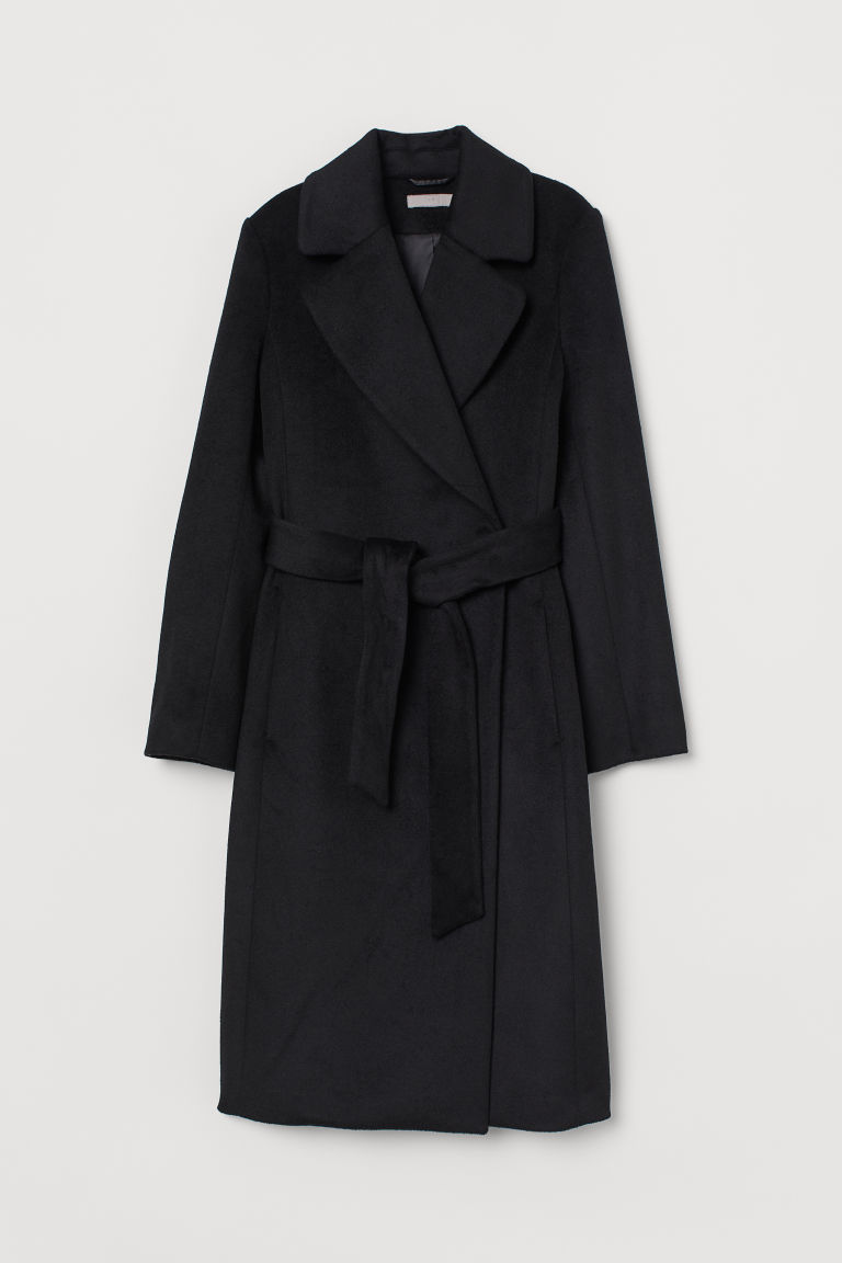 Cappotto in misto lana - Nero - DONNA | H&M IT