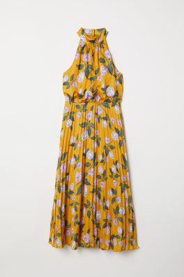 8dd1d07a93f Saténové šaty halterneck