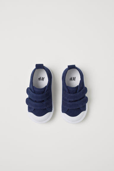 Sneakers in velluto a coste - Blu scuro - BAMBINO | H&M IT