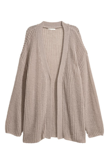 Loose-knit cardigan - Light mole -  | H&M