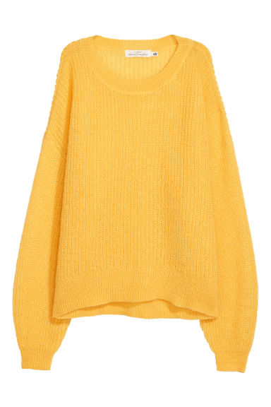 Loose-knit jumper - Yellow -  | H&M