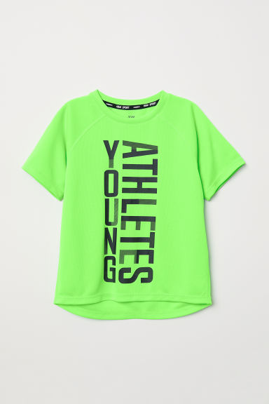 Sports top - Neon green - Kids | H&M CN