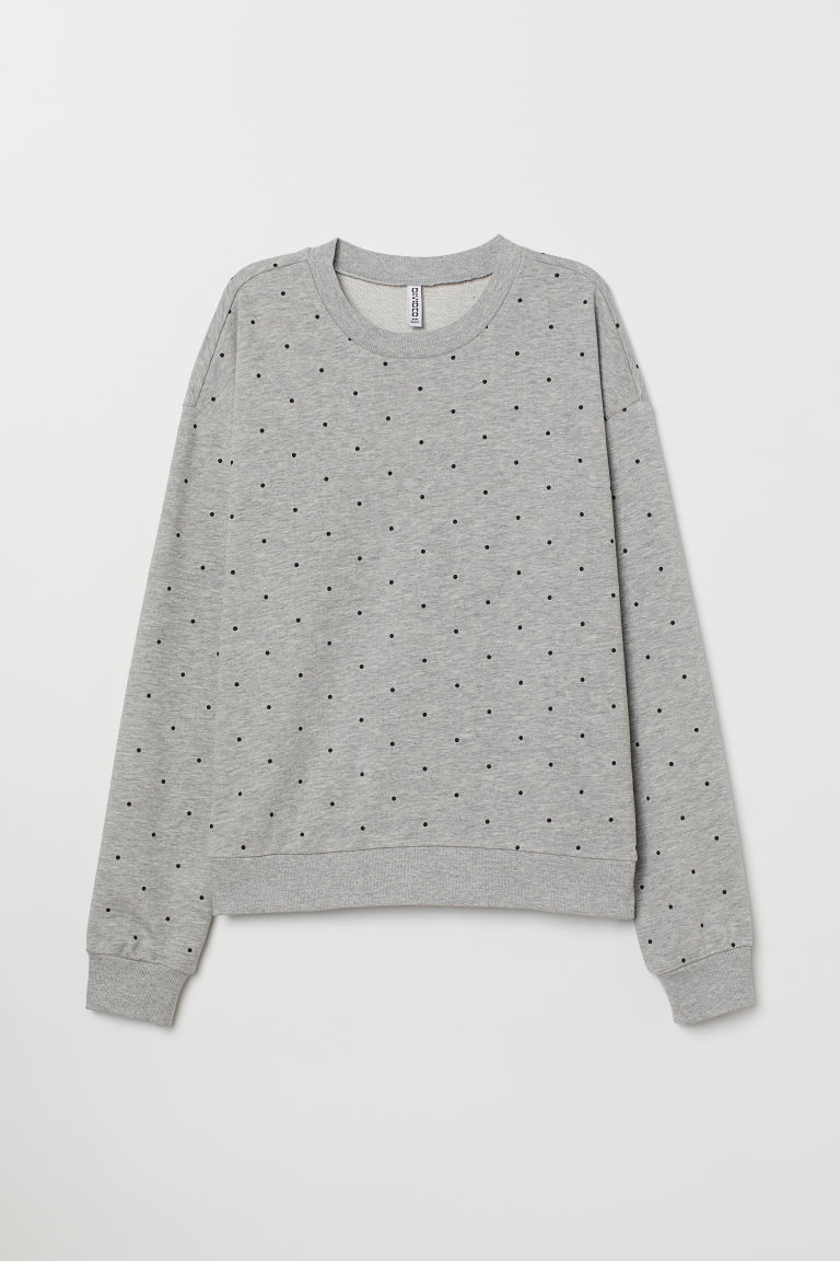 Sweatshirt - Grey marl/Spotted -  | H&M