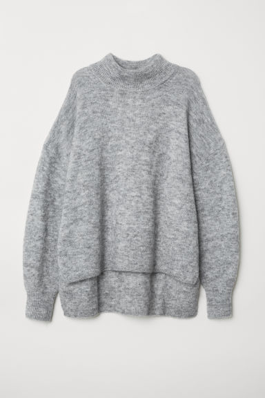 Turtleneck jumper - Light grey marl - Ladies | H&M