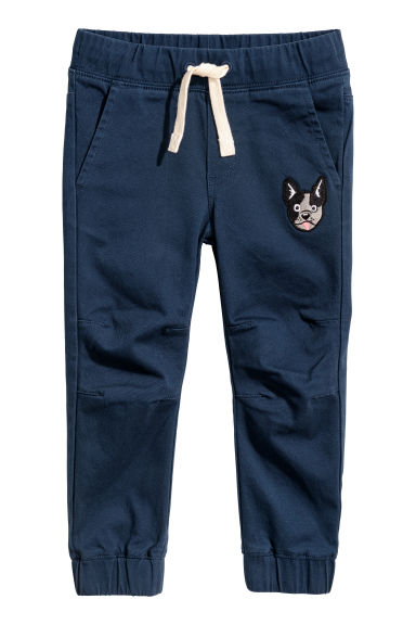 Twill pull-on trousers - Blue - Kids | H&M CN
