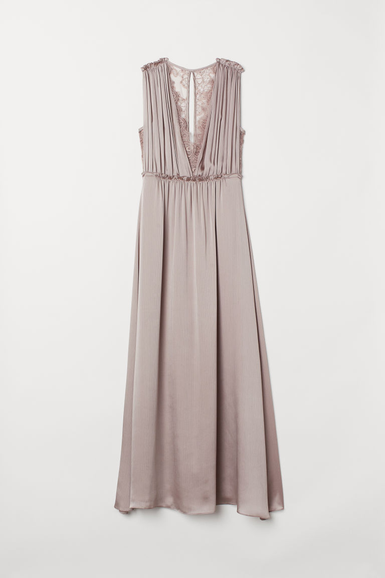 Long Satin Dress - Light heather - Ladies | H&M CA