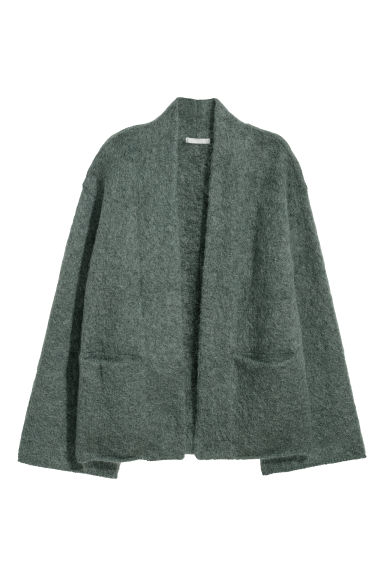 Mohair-blend cardigan - Dark green -  | H&M GB
