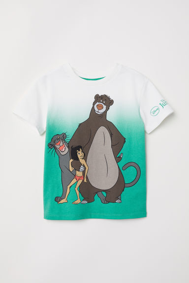 Printed T-shirt - White/Jungle Book - Kids | H&M CN