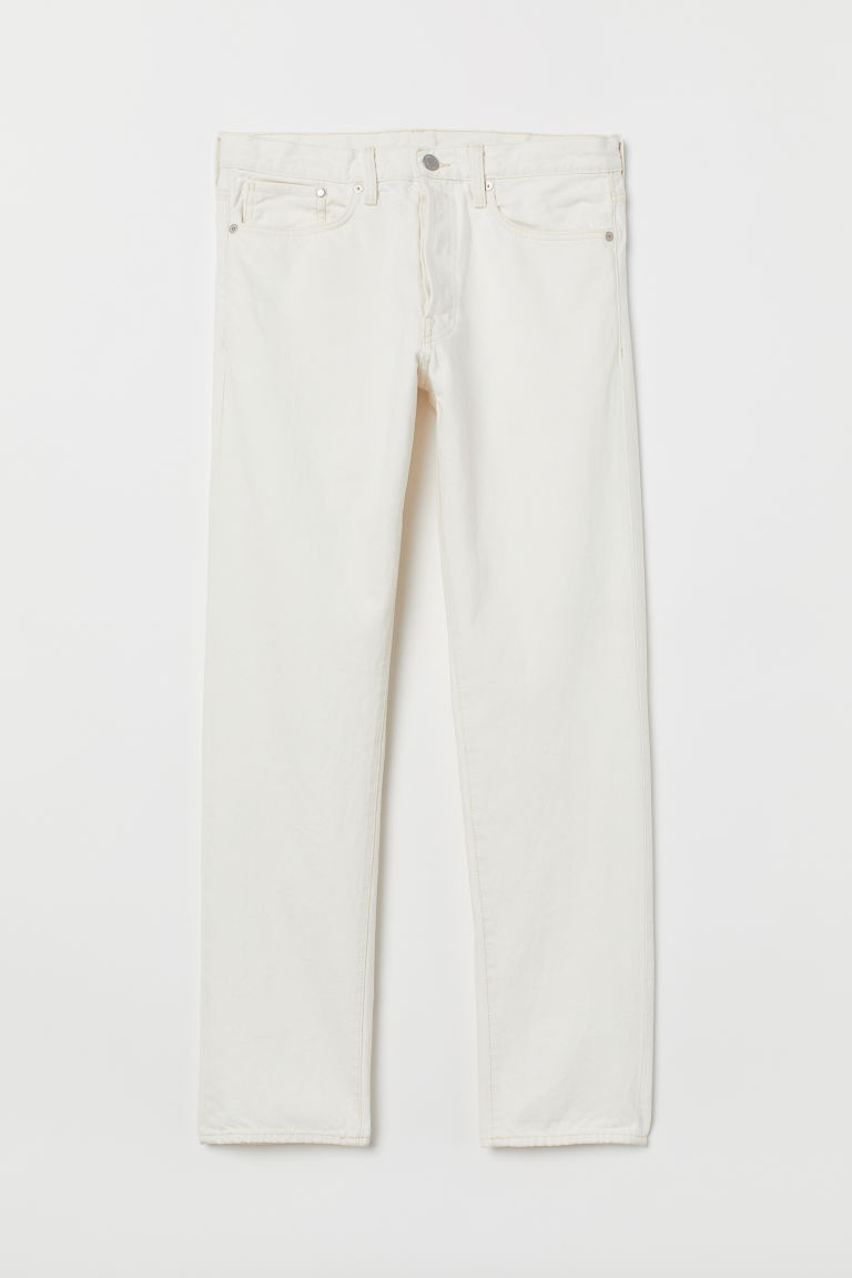Straight Jeans - Natural white - Men | H&M
