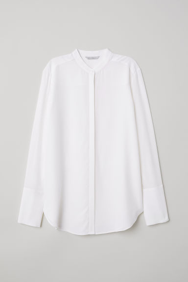Silk blouse - White - Ladies | H&M