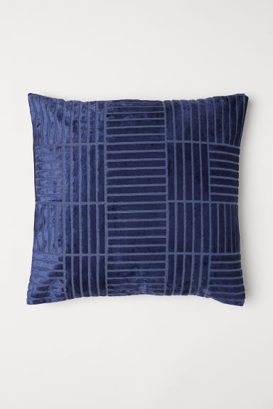 Patterned cushion cover - Dark blue - Home All | H&M CN
