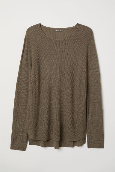 Textured-knit jumper - Dark mole - Men | H&M