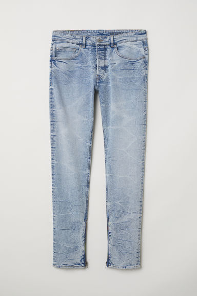 Skinny Jeans - Azul claro/Washed - HOMBRE | H&M ES