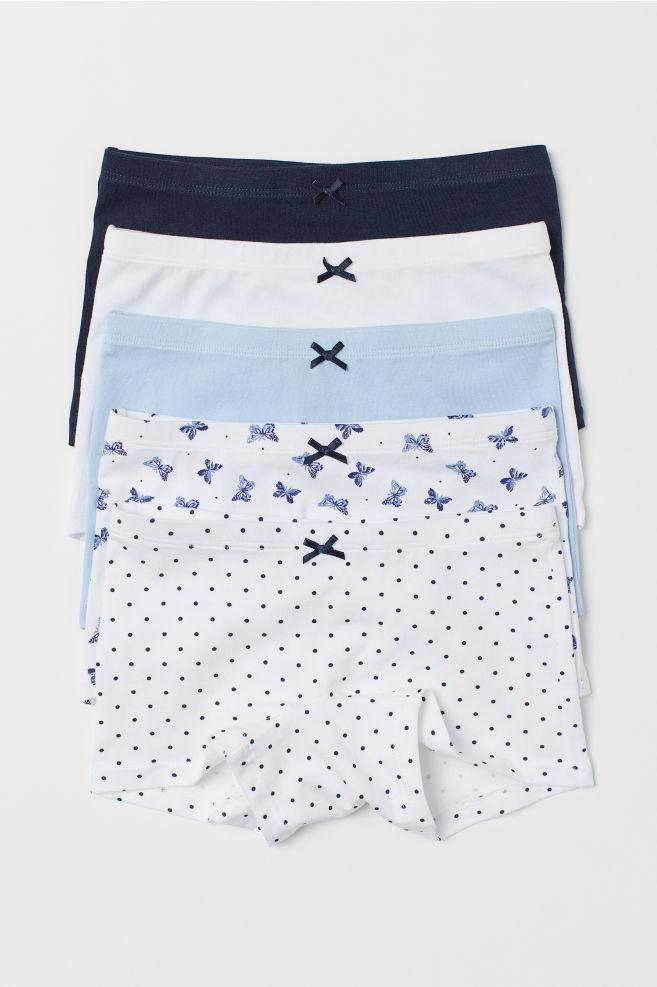 09cbf11a0 5-pack Boxer Briefs - White butterflies - Kids