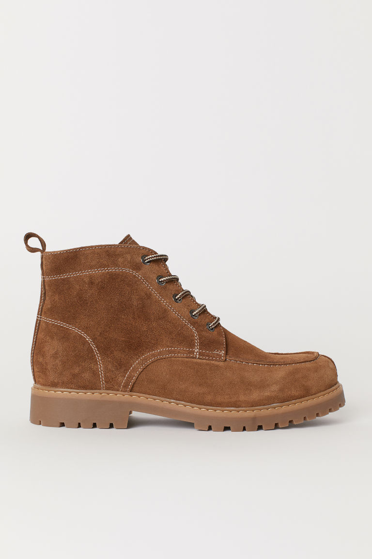 Suede boots - Brown - Men | H&M CN