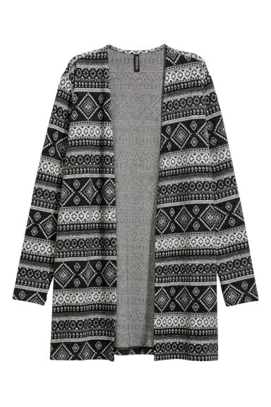 Jacquard-knit cardigan - Black/Patterned - Ladies | H&M GB