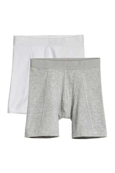 2-pack long trunks - White - Men | H&M