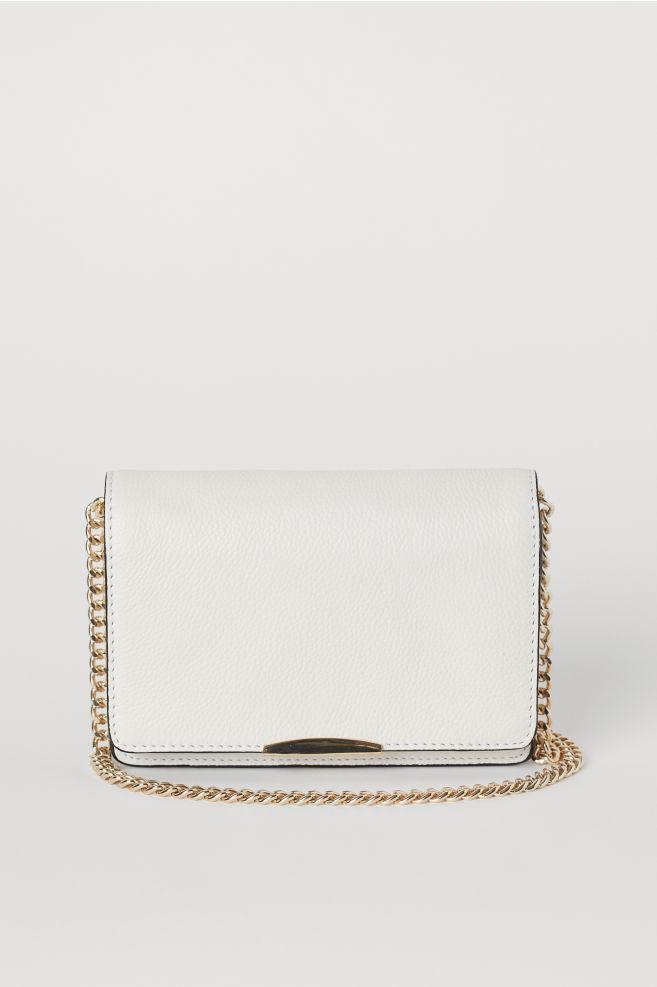 867da58f4583 Leather Shoulder Bag - Cream - Ladies | H&M ...