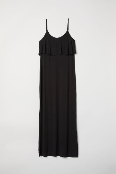 Jersey maxi dress - Black -  | H&M