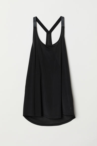 Sports vest top - Black - Ladies | H&M CN
