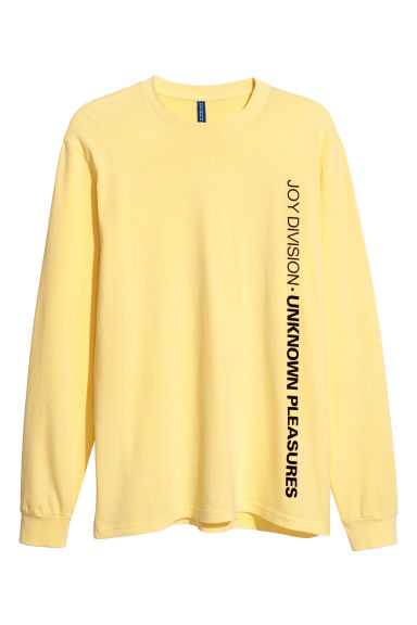 Long-sleeved jersey top - Light yellow - Men | H&M CN