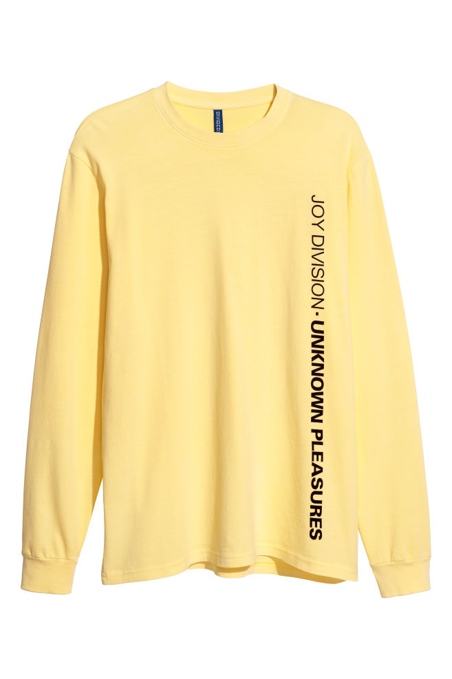 33ff97f8a8f600 Long-sleeved jersey top - Light yellow - Men | H&M ...