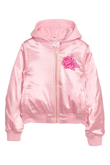 Satin bomber jacket - Light pink - Kids | H&M