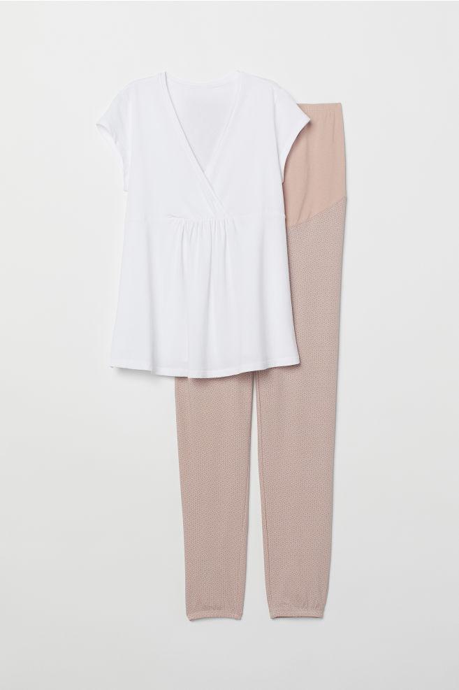 ff3f88dfe ... MAMA Pijama de lactancia - Blanco Lunares - MUJER