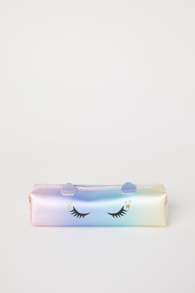 Printed pencil case - Light turquoise/Rainbow - Kids | H&M CN